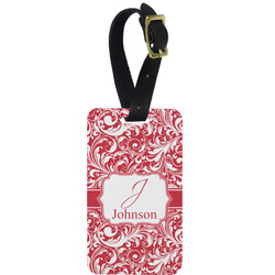 Swirl Aluminum Luggage Tag (Personalized)