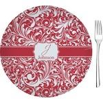 "Swirl Glass Appetizer / Dessert Plates 8"" - Single or Set (Personalized)"