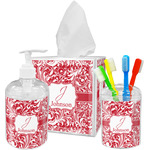 Swirl Acrylic Bathroom Accessories Set w/ Name and Initial