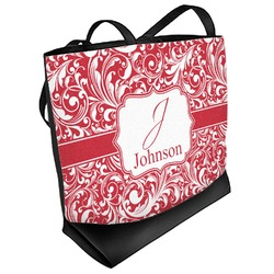 Swirl Beach Tote Bag (Personalized)