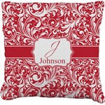 Swirl Faux-Linen Throw Pillow (Personalized)