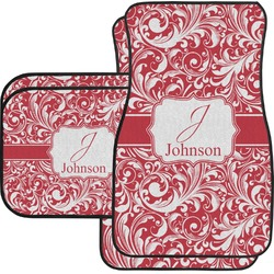 Swirl Car Floor Mats Set - 2 Front & 2 Back (Personalized)