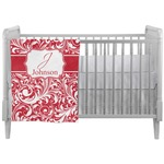 Swirl Crib Comforter / Quilt (Personalized)