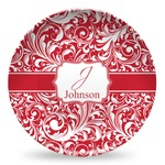 Swirl Microwave Safe Plastic Plate - Composite Polymer (Personalized)