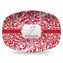 Swirl Plastic Platter - Microwave & Oven Safe Composite Polymer (Personalized)