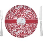 """Swirl Glass Lunch / Dinner Plates 10"""" - Single or Set (Personalized)"""