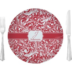"Swirl Glass Lunch / Dinner Plates 10"" - Single or Set (Personalized)"