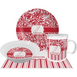 Swirl Dinner Set - 4 Pc (Personalized)