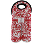 Swirl Wine Tote Bag (2 Bottles) (Personalized)