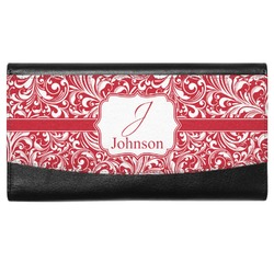 Swirl Genuine Leather Ladies Wallet (Personalized)