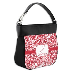 Swirl Hobo Purse w/ Genuine Leather Trim (Personalized)