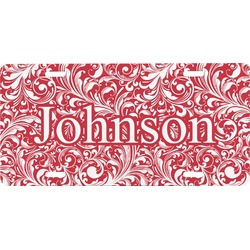 Swirl Front License Plate (Personalized)
