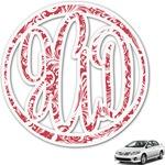 Swirl Monogram Car Decal (Personalized)