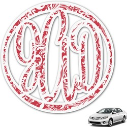 Swirl Monogram Car Decal (Personalized)