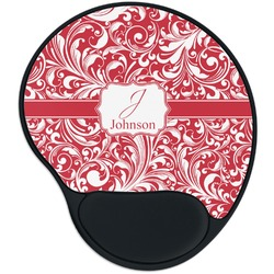 Swirl Mouse Pad with Wrist Support