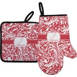 Swirl Oven Mitt & Pot Holder (Personalized)