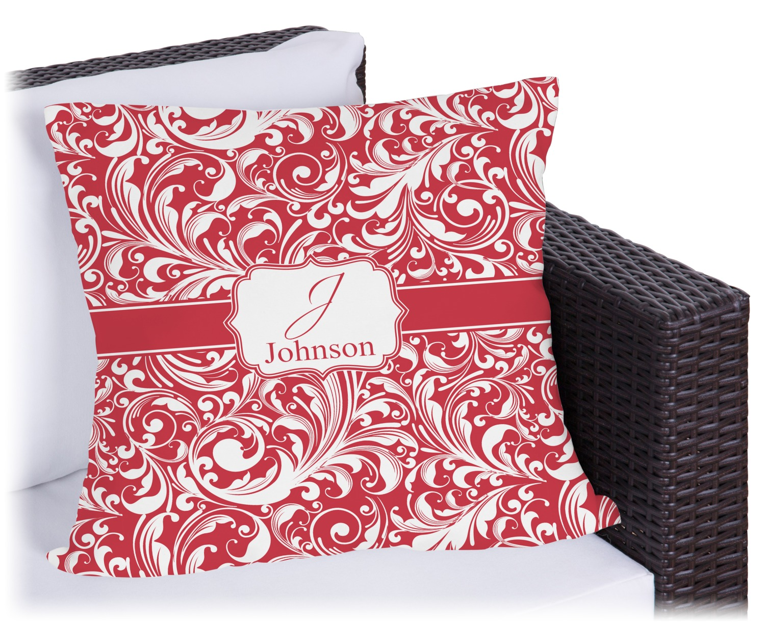 Victorian Outdoor Pillows : Swirl Outdoor Pillow - 26