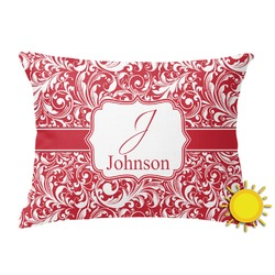Swirl Outdoor Throw Pillow (Rectangular) (Personalized)