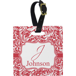 Swirl Square Luggage Tag (Personalized)