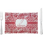 Swirl Glass Rectangular Lunch / Dinner Plate - Single or Set (Personalized)