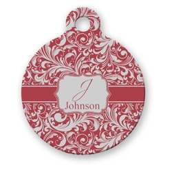 Swirl Round Pet ID Tag (Personalized)
