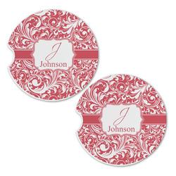 Swirl Sandstone Car Coasters - Set of 2 (Personalized)