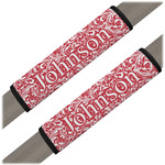 Swirl Seat Belt Covers (Set of 2) (Personalized)