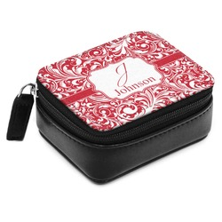 Swirl Small Leatherette Travel Pill Case (Personalized)