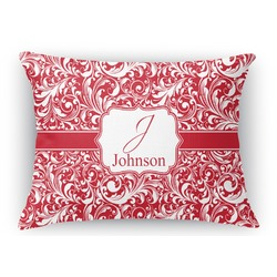 Swirl Rectangular Throw Pillow Case (Personalized)