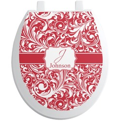 Swirl Toilet Seat Decal (Personalized)