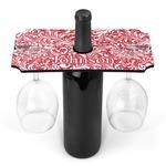 Swirl Wine Bottle & Glass Holder (Personalized)