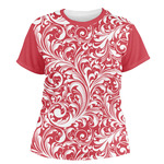 Swirl Women's Crew T-Shirt (Personalized)