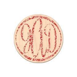Swirl Genuine Maple or Cherry Wood Sticker (Personalized)