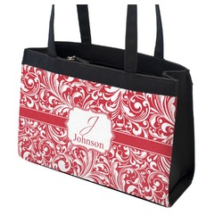 Swirl Zippered Everyday Tote (Personalized)