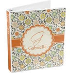 Swirls & Floral 3-Ring Binder (Personalized)