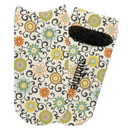 Swirls & Floral Adult Ankle Socks (Personalized)