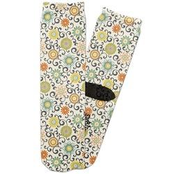 Swirls & Floral Adult Crew Socks (Personalized)