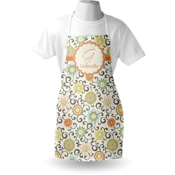 Swirls & Floral Apron (Personalized)