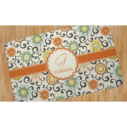 Swirls & Floral Area Rug (Personalized)