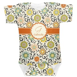 Swirls & Floral Baby Bodysuit (Personalized)