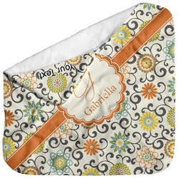Swirls & Floral Baby Hooded Towel (Personalized)