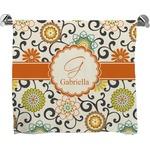 Swirls & Floral Full Print Bath Towel (Personalized)
