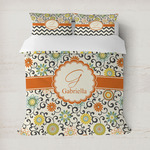 Swirls & Floral Duvet Cover (Personalized)