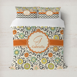 Swirls & Floral Duvet Covers (Personalized)