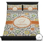 Swirls & Floral Duvet Cover Set (Personalized)