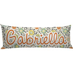 Swirls & Floral Body Pillow Case (Personalized)