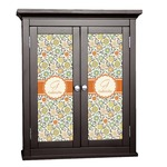 Swirls & Floral Cabinet Decal - Custom Size (Personalized)