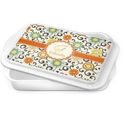 Swirls & Floral Cake Pan (Personalized)