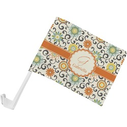 Swirls & Floral Car Flag (Personalized)