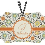 Swirls & Floral Rear View Mirror Ornament (Personalized)